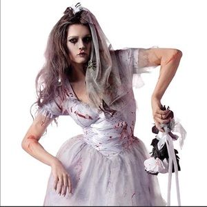 Party King Zombie Bride Costume